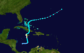 1933 Atlantic hurricane 19 track.png