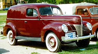 Panel van - 1940 Ford Model A Sedan Delivery