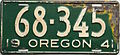1941 Oregon license plate.JPG