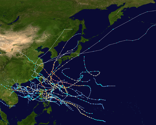 1956 Pacific typhoon season typhoon season in the Pacific Ocean