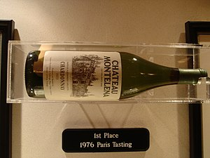 Judgment of Paris (wine) - A bottle of 1973 Chateau Montelena Chardonnay that won the white wine competition.