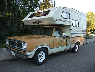 Pickup truck - 1974 Dodge D200 with camper