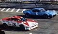 1975 European GT Championship, Imola round - Facetti's Lancia Stratos Marlboro and Gottifredi's De Tomaso Pantera.jpg