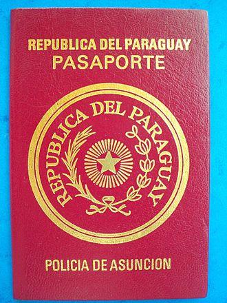 Paraguayan passport - 1989 Paraguayan Passport Pre Mercosur Type