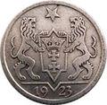 1 Gulden (Freie Stadt Danzig 1923) reversum.jpg