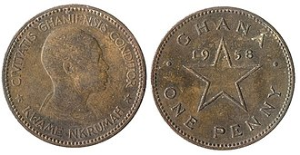 Ghanaian pound - Image: 1 penny (Ghanaian pound)