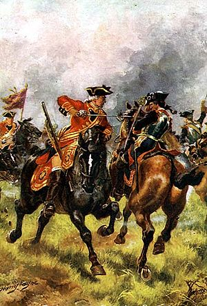 Troops of Horse Guards - 1st Troop of Horse Guards at the Battle of Dettingen.