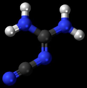2-Cyanoguanidine - Image: 2 Cyanoguanidine 3D balls