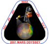 The mission patch for the Mars Odyssey project.