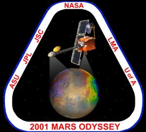 2001 Mars Odyssey - Image: 2001 Mars Odyssey mars odyssey logo sm