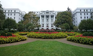 Southern West Virginia - The Greenbrier resort located Greenbrier county.