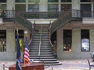 Ellicott Square Building - Image: 20080305 Ellicott Square Building interior court (2)