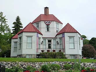 Harbor Springs, Michigan - Ephraim Shay's hexagonally shaped house.