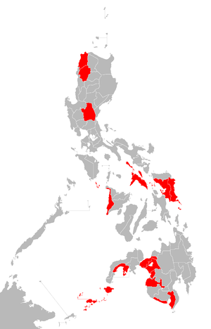 Philippine general election, 2010 - Election hotspots in the Philippines.