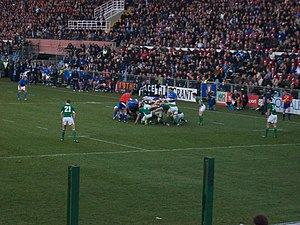 History of rugby union matches between Ireland and Italy -  A scrum during Italy vs Ireland at the Six Nations 2011