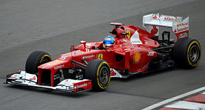 2012 Canadian Grand Prix - Fernando Alonso led for 17 laps of the race, but his tyres degraded near the end and he quickly lost four places, slipping to fifth.