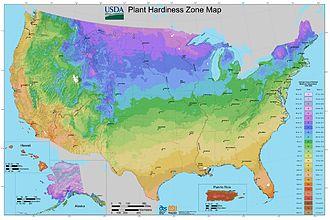 Hardiness zone - Image: 2012 USDA Plant Hardiness Zone Map (USA)