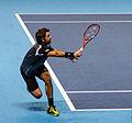2014-11-12 2014 ATP World Tour Finals Stanislas Wawrinka forehand by Michael Frey.jpg