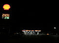 2015-04-07 03 42 47 Shell gas station at night along Mountain City Highway (Nevada State Route 225) in Elko, Nevada.jpg