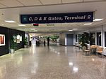 2015-04-13 23 39 56 View towards Terminal 2 and Concourse C from the middle of the corridor connecting Concourse B and Concourse C in Salt Lake City International Airport, Utah.jpg