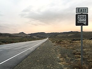 Nevada State Route 208 - View eastbound along SR 208 in Lyon County