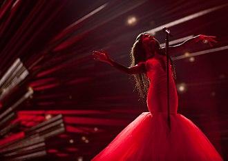 """Aminata Savadogo - Aminata performing """"Love Injected"""" at the Eurovision Song Contest 2015"""