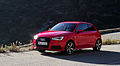 2015 Facelift Audi A1 Typ 8X 1.8 TFSI S tronic 141 kW Vorderansicht Misanorot-Perleffekt Col de Braus.jpg