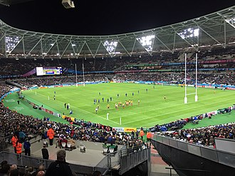 2015 New Zealand rugby league tour of England - Image: 2015 Rugby World Cup, France vs. Romania (21048401024)