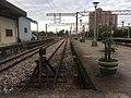 20161217 Northern end of Platform 1 at Luodong Station, looking north 羅東車站第1月台北端以北視野.jpg