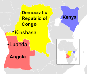 2016 Angola and DR Congo yellow fever outbreak - Image: 2016 Angola and DR Congo yellow fever outbreak