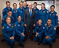 2017 class of NASA astronauts with Vice President Mike Pence.jpg