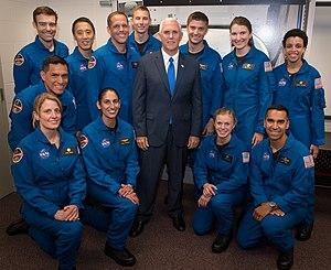 NASA Astronaut Group 22 - NASA Astronaut Group 22 with Vice President Mike Pence