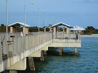 Fort De Soto Park - The Gulf Pier at Fort De Soto Park, one of two fishing piers.