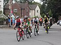 2018 Tour of Britain stage 2 045 Matt Teggart, 076 Alessandro Tonelli, 116 Erick Rowsell, 012 Scott Davies and 064 Cameron Meyer .JPG