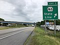 2019-06-07 09 04 54 View south along Interstate 81 at Exit 1 (Pennsylvania State Route 163, State Line) entering Maugansville, Washington County, Maryland from Antrim Township, Franklin County, Pennsylvania.jpg