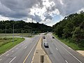 2020-08-07 16 50 06 View west along Maryland State Route 372 (Wilkens Avenue) from the overpass for Interstate 695 (Baltimore Beltway) on the edge of Catonsville and Arbutus in Baltimore County, Maryland.jpg