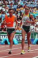 211000 - Athletics track 10km T11 Gerrard Gosens guide action - 3b - 2000 Sydney race photo.jpg