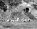21 Mar 1962 Cheyenne Mt, Ext const, dumping rocks.jpg