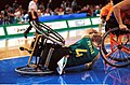 251000 - Wheelchair basketball Shane Porter crash - 3b - 2000 Sydney match photo.jpg