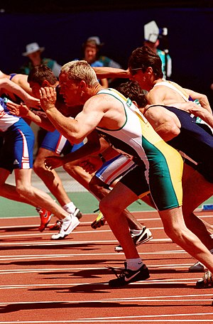 Cerebral palsy sport classification - Hamish MacDonald at the 2000 Summer Paralympics in Sydney.