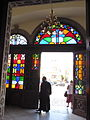 27. Agios Minas Cathedral- Entrance in the Narthex.JPG