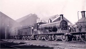 LSWR L11 class - BR No. 30166 pictured on shed