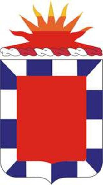 32nd Field Artillery Regiment - Coat of arms