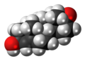 4-Dehydroepiandrosterone 3D spacefill.png
