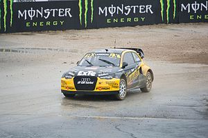 Robin Larsson - Larsson competing in the 2016 World RX of Portugal.