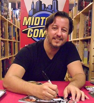 Dean Haspiel - Haspiel at a book signing at Midtown Comics East in Manhattan, September 15, 2010