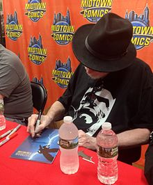 Miller signing a copy of the book during a 2016 appearance at Midtown  Comics. The immense popularity of The Dark Knight Returns ... cc18de14907