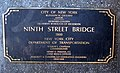 9th St Bridge 2000 plaque jeh.JPG