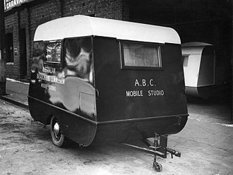 Australian Broadcasting Corporation - ABC mobile studio caravan, used for concerts presented by the ABC at army camps and other locations, 1940