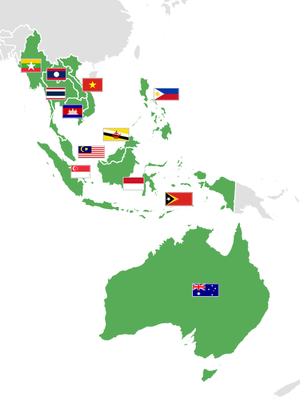 ASEAN Football Federation - Image: AF Fmap